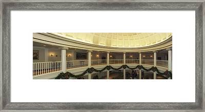 Hall Of Presidents Walt Disney World Panorama Framed Print by Thomas Woolworth