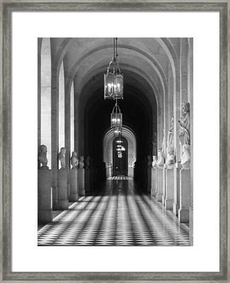 Framed Print featuring the photograph Hall Of Sculpture by Meaghan Troup