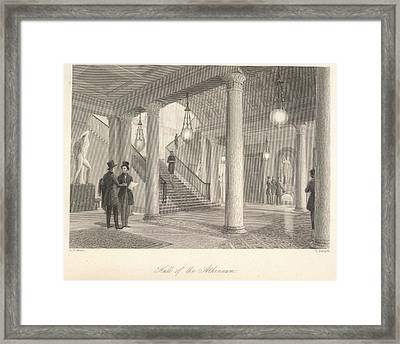Hall Of The Athenaeum Framed Print