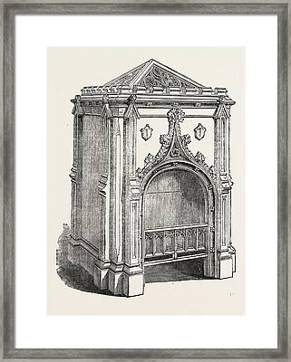Hall Stove, Jermyn Street, London, Uk. This Framed Print by Pierce, English, 19th Century