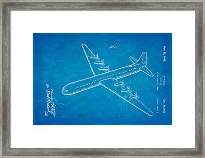 Hall Xc 99 Airplane Patent Art 1945 Blueprint Framed Print by Ian Monk