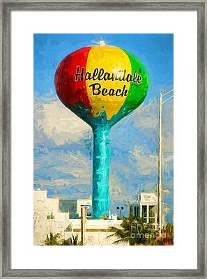 Hallandale Beach Water Tower Framed Print