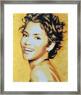 Halle Berry Framed Print by Victor Minca