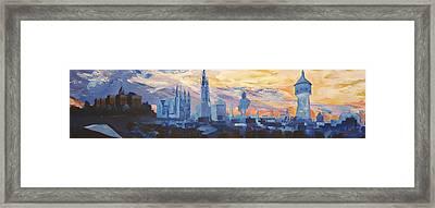 Halle Saale Germany Skyline Framed Print by M Bleichner