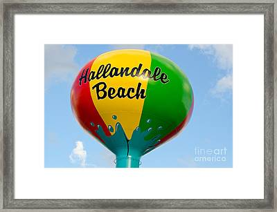 Hallendale Beach Water Tower Framed Print