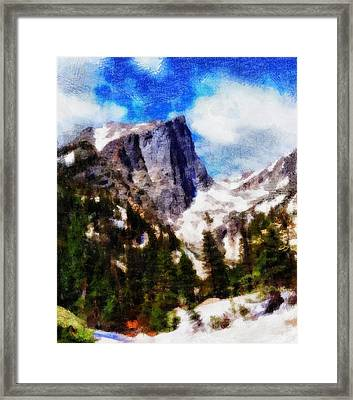 Hallett Peak In Spring Framed Print by Dan Sproul