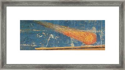 Halleys Comet, 1301 Framed Print