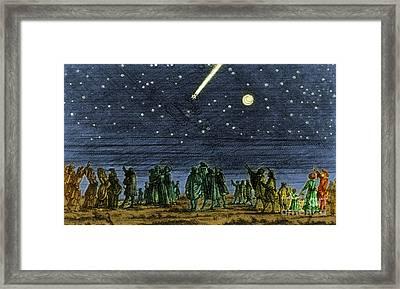 Halleys Comet 1682 Framed Print