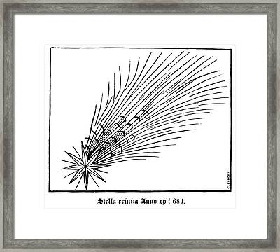 Halley's Comet In 684 Framed Print by Royal Astronomical Society