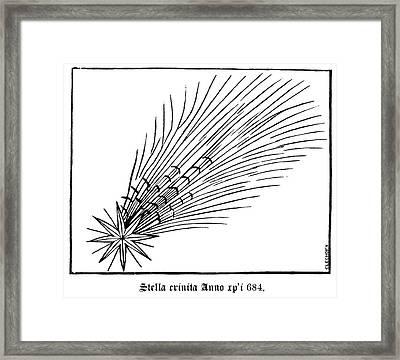 Halley's Comet In 684 Framed Print