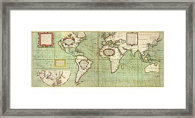 Halley's Global Magnetic Chart Framed Print
