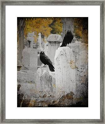 Halloween Is In The Autumn Air Framed Print