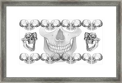 Halloween Background Framed Print by Michal Boubin