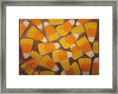 Halloween Candy Corn Framed Print by Kathy Marrs Chandler