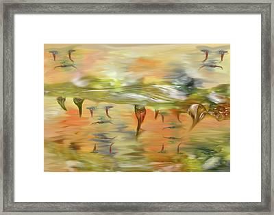 Halloween Clown Morning Tear Drops Reflection Framed Print by Angela A Stanton