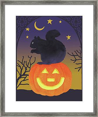 Halloween Critter Iv Framed Print by Beth Grove