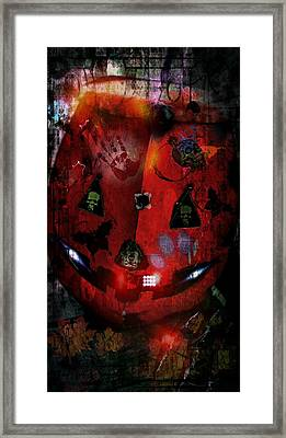 Halloween Framed Print by Denisse Del Mar Guevara