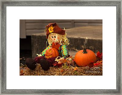 Halloween Doll Framed Print by Iris Richardson