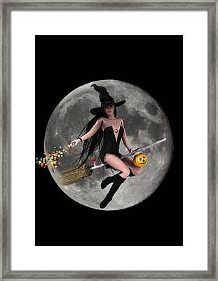 Halloween Fly By Framed Print by Frederico Borges