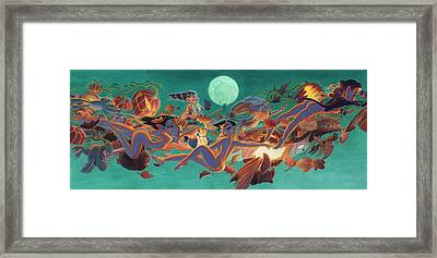 Halloween Frolics Framed Print by Richard Moore