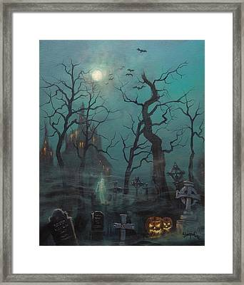 Halloween Ghost Framed Print by Tom Shropshire