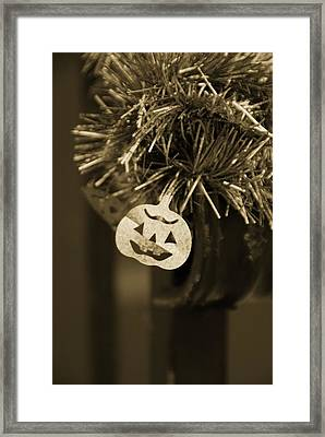 Halloween Greetings Framed Print by Marianna Mills