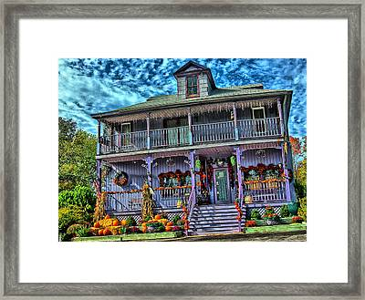 Halloween House Framed Print