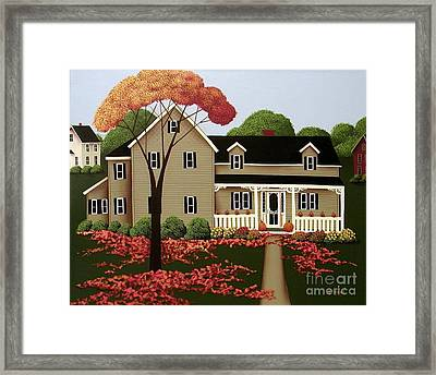 Halloween In Fallbrook Framed Print by Catherine Holman