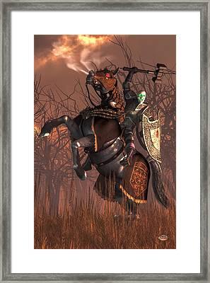 Halloween Knight Framed Print