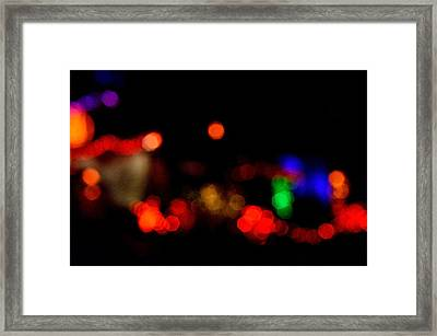 Halloween Lights Framed Print by Jeffrey J Nagy