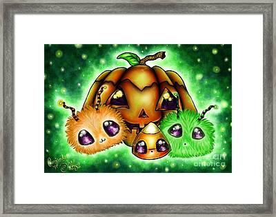 Halloween Menagerie Framed Print by Coriander  Shea