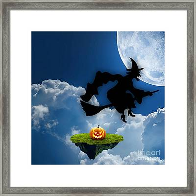 Halloween Night Is Approaching Framed Print by Marvin Blaine