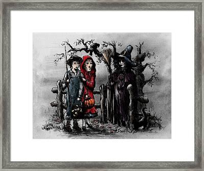 Halloween Night Framed Print by Rachel Christine Nowicki