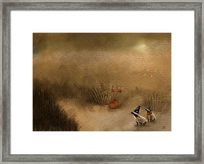 Halloween On The Beach Framed Print by Jean Moore