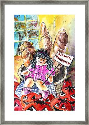 Halloween Party In A Bergamo Bakery Framed Print by Miki De Goodaboom