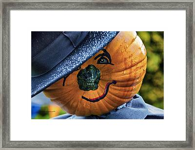 Halloween Pumpkin 02 Framed Print by Thomas Woolworth