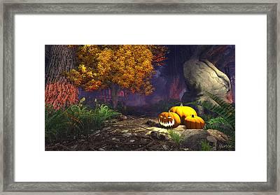 Halloween Pumpkins Framed Print by Marina Likholat