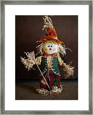 Halloween Scarecrow Framed Print by Aimee L Maher Photography and Art Visit ALMGallerydotcom