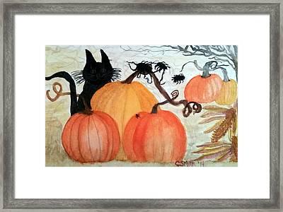 Halloween Scene Framed Print
