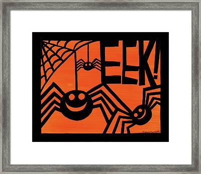 Halloween Silhouette Iv Framed Print