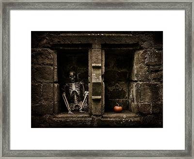 Halloween Skeleton Framed Print