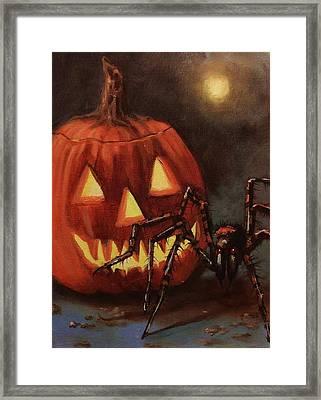 Halloween Spider Framed Print by Tom Shropshire