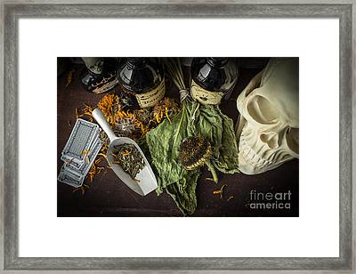 Halloween Still Life Framed Print