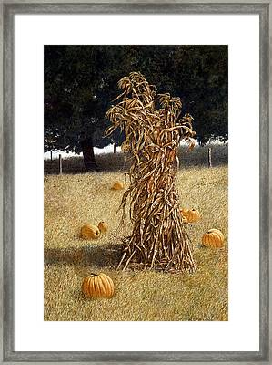 Framed Print featuring the painting Halloween by Tom Wooldridge