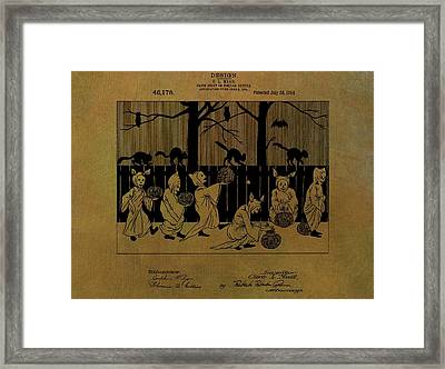 Halloween Trick Or Treaters Patent Framed Print