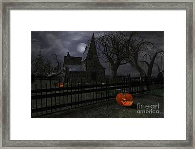 Halloween Witch House - 1 Framed Print by Fairy Fantasies