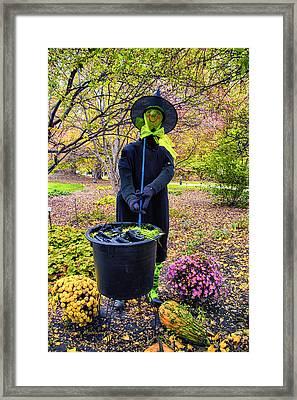 Halloween Witch Framed Print by Thomas Woolworth