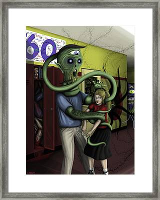 Hallpass To Hell Framed Print by Kris Milo