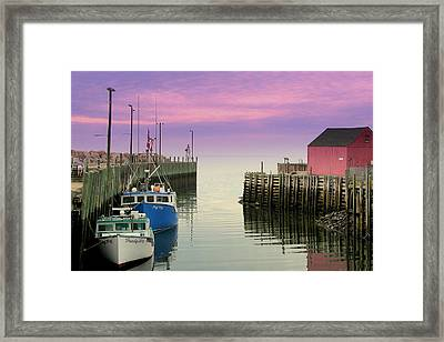 Halls Harbour Evening Framed Print by Brian Chase