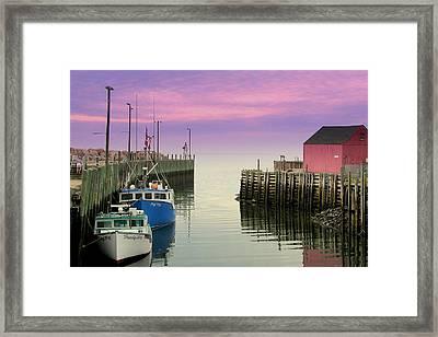 Halls Harbour Evening Framed Print